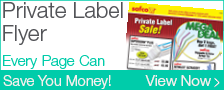 Private Label Flyer