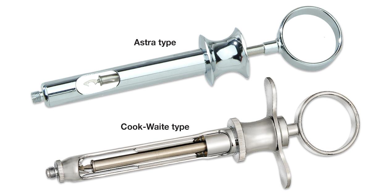 Aspirating syringes - Vista