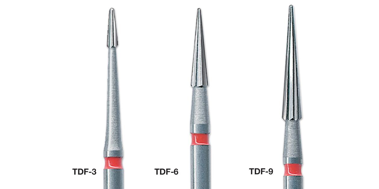 NTI TDF series (trim, define, finish) burs