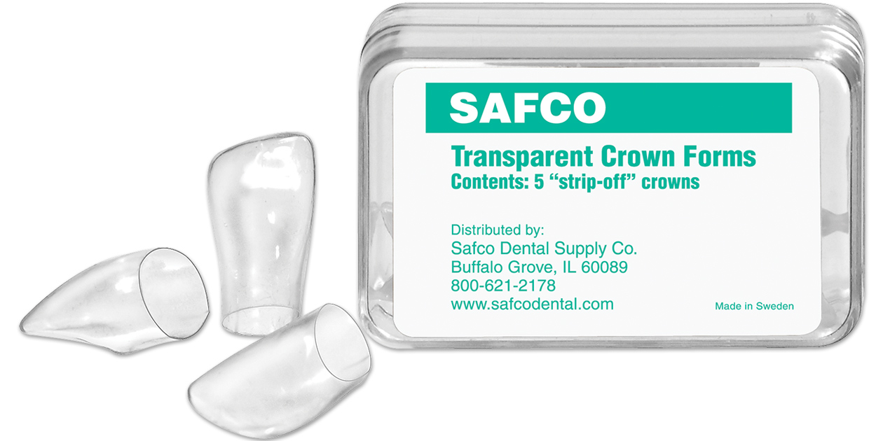 Safco strip off transparent crown forms