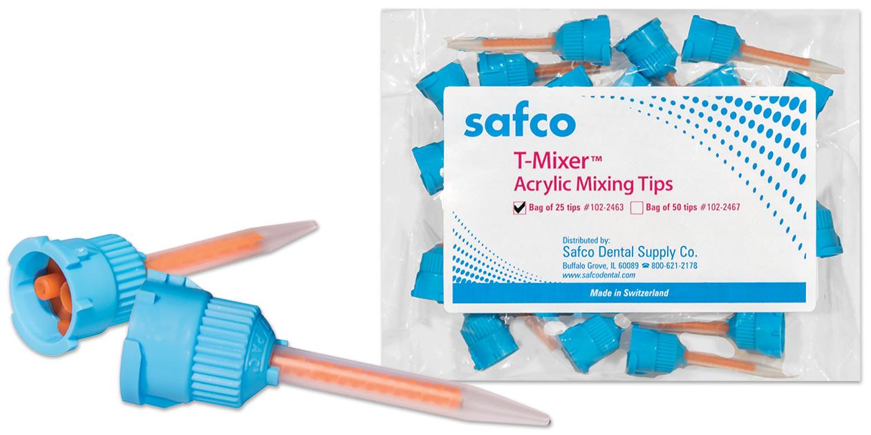 Safco acrylic C&B T-Mixer mixing tips