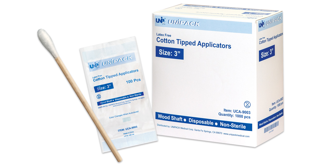 Unipack cotton tipped applicators