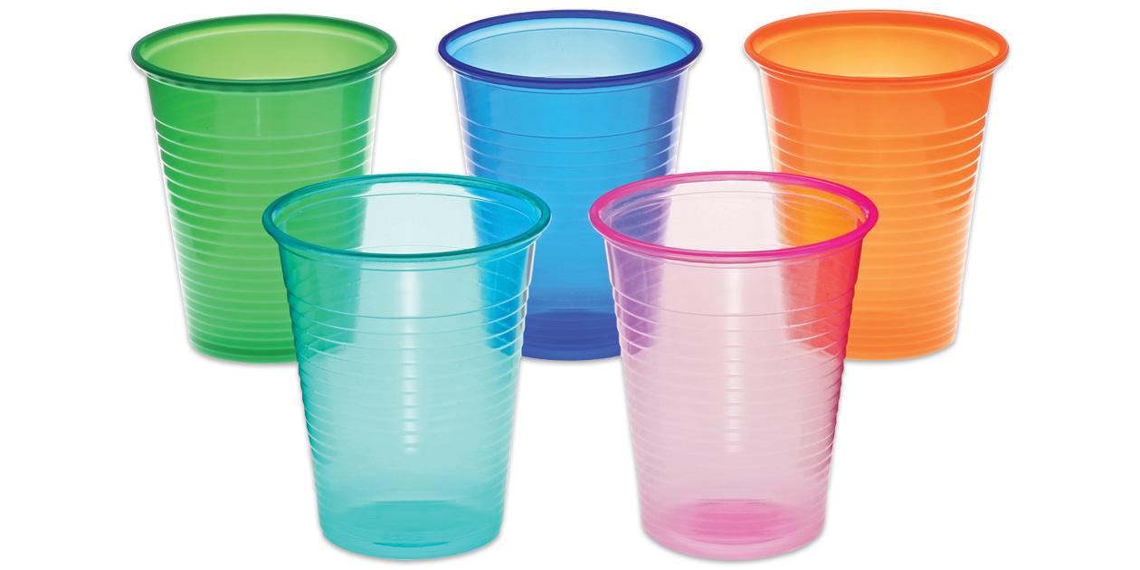 Safco Calypso plastic drinking cups