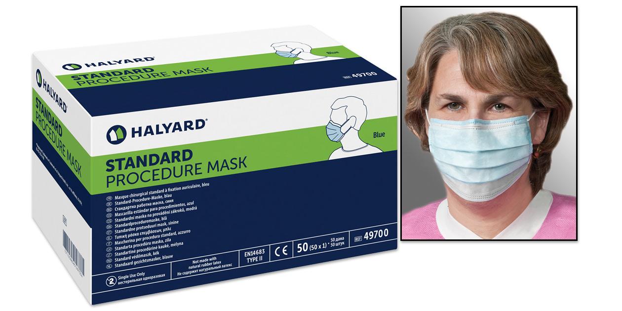 Halyard standard procedure mask