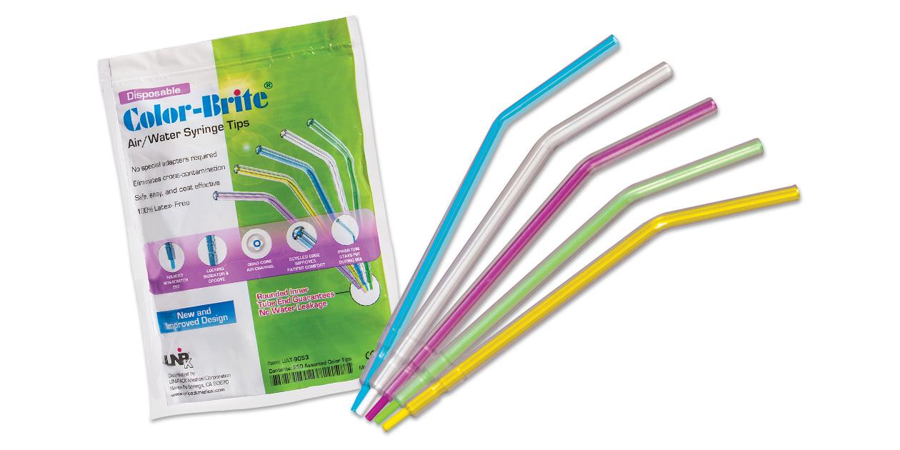 Color-Brite syringe tips