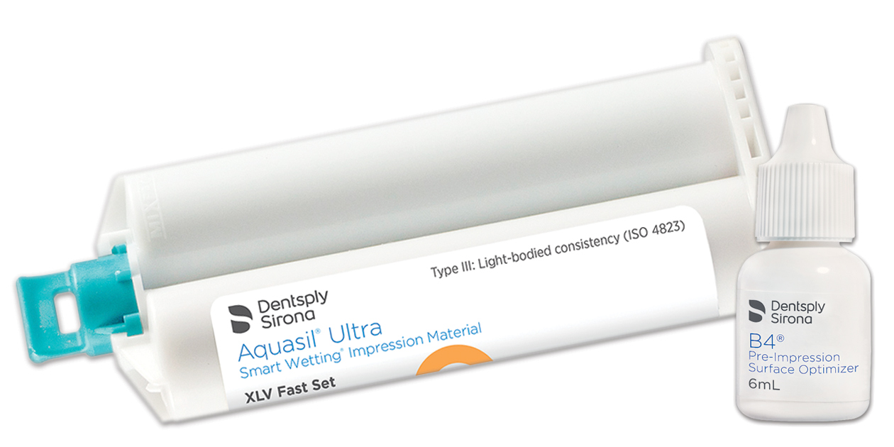 Aquasil Ultra 50ml cartridges with B4