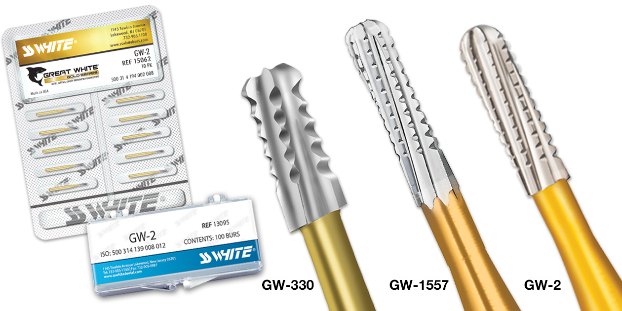 SS White - Great White Gold Series burs