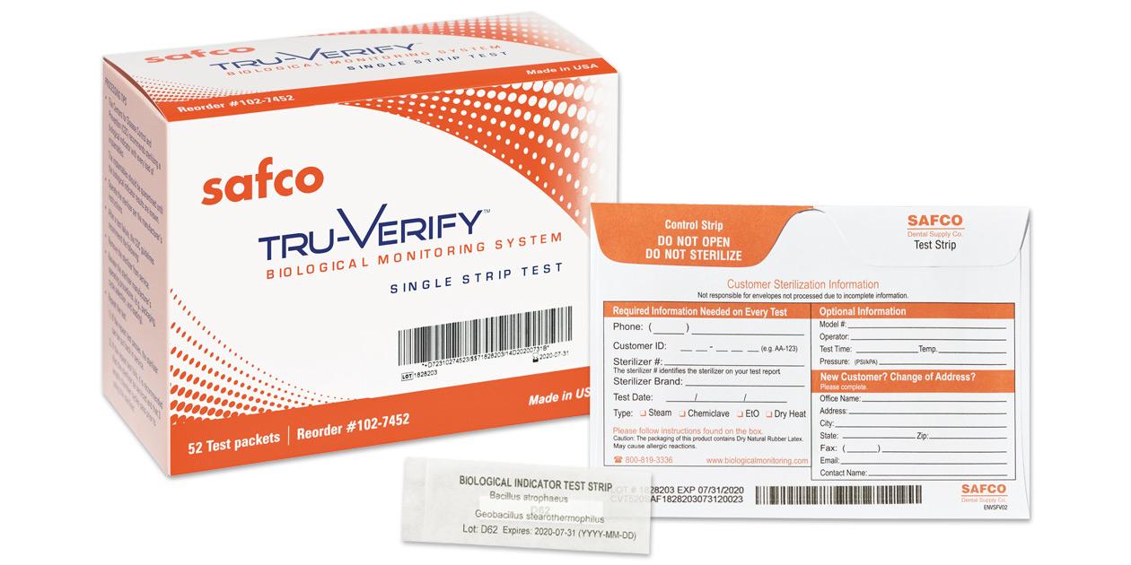 Safco Tru-Verify mail-in biological monitor