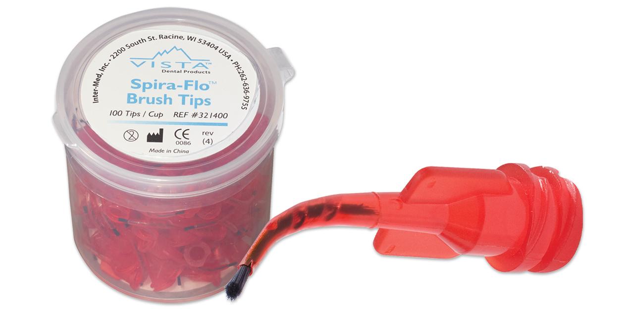 Spira-Flo pre-bent brush tips