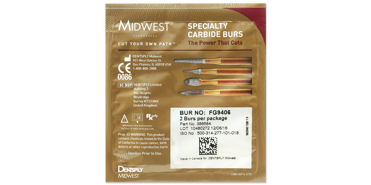 Midwest - 30 bladed T&F burs