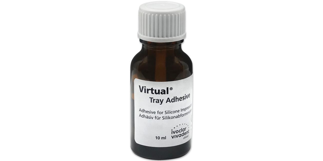 Virtual tray adhesive