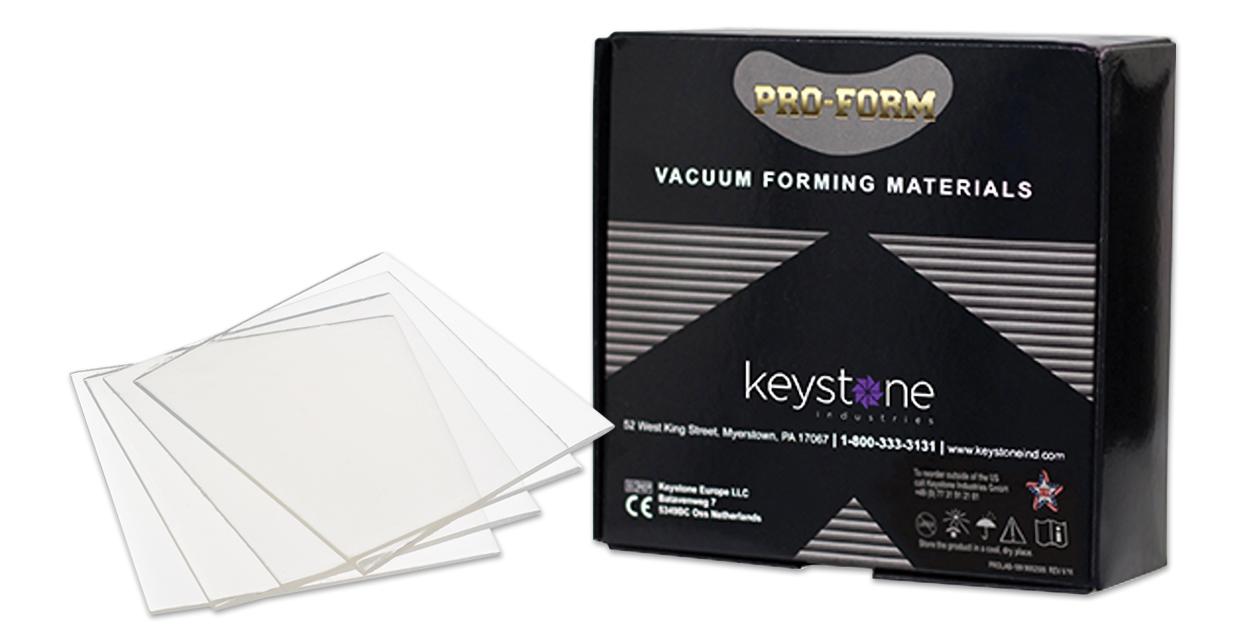 Pro-Form soft EVA tray material