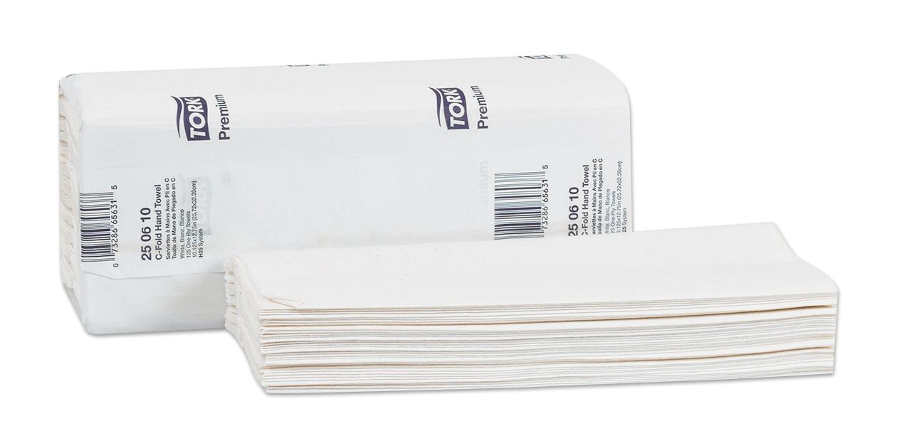 Tork Advanced and Premium C-fold towels