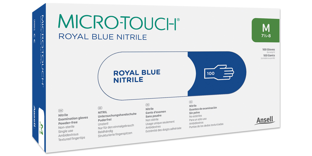 Micro-Touch Royal Blue Nitrile