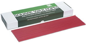 Hygenic utility wax strips/square ropes