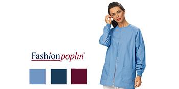 Fashion Poplin warmup jacket