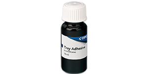 DMG tray adhesive