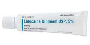 Lidocaine Ointment USP, 5% (tubes)