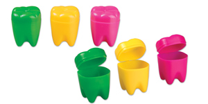 Tooth-shaped tooth savers