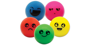 Funny face super bouncy balls