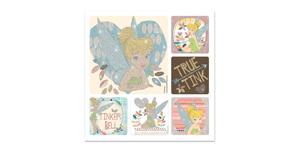 Tinker Bell Glitter Stickers