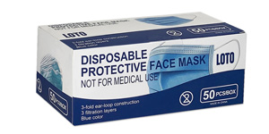Loto protective 3-ply face masks
