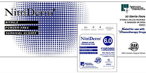 NitriDerm nitrile surgical gloves