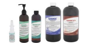 ioRinse, ioGel, ioMist molecular iodine solutions